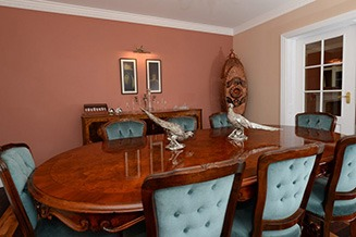 Pheasants Roost Luxury Bed and Breakfast Dining Room